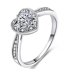 preiswerte Ringe-Damen Kubikzirkonia Stapel Ring - Platiert Herz Romantisch 5 / 6 / 7 Silber Für Verabredung