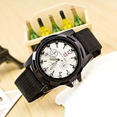 abordables Relojes Militares-Hombre Reloj Militar Reloj de Pulsera Cuarzo Reloj Casual Tejido Banda Analógico Moda Negro / Azul / Verde - Negro Verde Azul