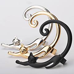 preiswerte Ohrringe-Damen Ohr Kletterer Ohr-Stulpen - Katze, Tier Erklärung, Einfach Gold / Schwarz / Silber Für Ausgehen Geburtstag