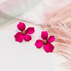 お買い得  イヤリング-1ペア 女性用 レトロ スタッドピアス - フラワー レディース 欧風 甘い ファッション ジュエリー ローズ / グリーン / ピンク 用途 パーティー 日常