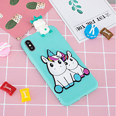 abordables Fundas para iPhone 6 Plus-Funda Para Apple iPhone X / iPhone 8 Plus Diseños / Manualidades Funda Trasera Unicornio Suave TPU para iPhone X / iPhone 8 Plus / iPhone 8