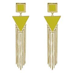 preiswerte Ohrringe-Damen Stilvoll Tropfen-Ohrringe - Glücklich Quaste, Modisch Gelb / Rot / Grün Für Alltag Verabredung
