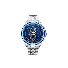 preiswerte Armbanduhren für Paare-Herrn Paar Kleideruhr Armbanduhr Quartz 30 m Armbanduhren für den Alltag Großes Ziffernblatt Edelstahl Band Analog Luxus Modisch Silber - Blau Schwarz / Weiß Schwarz / Blau