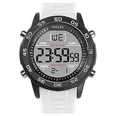 お買い得  メンズ腕時計-SMAEL 男性用 スポーツウォッチ 日本産 デジタル ブラック / 白 50 m 耐水 カレンダー 夜光計 デジタル ファッション - ブラック ブラック / ホワイト