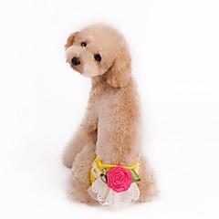お買い得  犬用ウェア&アクセサリー-犬用 / 猫用 パンツ 犬用ウェア フラワー イエロー / グリーン / ピンク コットン コスチューム ペット用 女性 ユニーク / フラワー