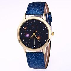 preiswerte Herrenuhren-Herrn Damen Armbanduhr Digitaluhr Quartz Armbanduhren für den Alltag lieblich Leder Band Analog Freizeit Modisch Schwarz / Weiß / Blau - Rot Blau Rosa