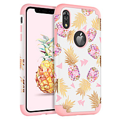 baratos Capinhas para iPhone-caso bentoben para apple iphone xr / iphone xs max à prova de choque / ultra fino / padrão capa de frutas / flor pc duro / sílica gel para iphone xr / iphone xs max