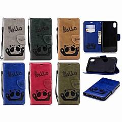 Недорогие Кейсы для iPhone 6 Plus-Кейс для Назначение Apple iPhone XR / iPhone XS Max Кошелек / Бумажник для карт / Флип Чехол Панда Твердый Кожа PU для iPhone XS / iPhone XR / iPhone XS Max