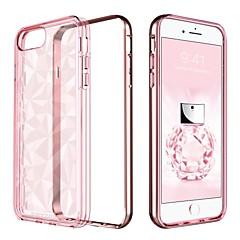 お買い得  iPhone 5S/SE ケース-ケース 用途 Apple iPhone 8 Plus / iPhone 7 Plus メッキ仕上げ / 半透明 バックカバー ソリッド ソフト TPU / PC のために iPhone 8 Plus / iPhone 7 Plus / iPhone 6s Plus