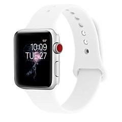 お買い得  腕時計ベルト-シリカゲル 時計バンド ストラップ のために Apple Watch Series 3 / 2 / 1 ブラック / 白 / ブルー 23センチメートル / 9インチ 2.1cm / 0.83 Inch