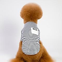 お買い得  犬用品-犬用 / 猫用 コート 犬用ウェア ストライプ ホワイト / ピンク 綿織物 コスチューム ペット用 男女兼用 スポーツ&アウトドア / カジュアル/普段着