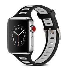 お買い得  メンズ腕時計-シリコーン 時計バンド ストラップ のために Apple Watch Series 3 / 2 / 1 ブラック / グリーン 23センチメートル / 9インチ 2.1cm / 0.83 Inch