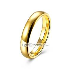 preiswerte Ringe-Damen Klassisch Stilvoll Bandring - Titanstahl Kreativ Klassisch, Grundlegend 7 / 8 Gold Für Alltag Arbeit
