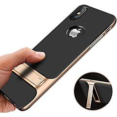 Недорогие Кейсы для iPhone 6-Кейс для Назначение Apple iPhone XR / iPhone XS Max Защита от удара / со стендом / Ультратонкий Кейс на заднюю панель Однотонный Твердый ПК для iPhone XS / iPhone XR / iPhone XS Max