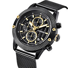 cheap -CADISEN Men's Wrist Watch Quartz Black 30 m Water Resistant / Water Proof Calendar / date / day Stopwatch Analog Luxury Casual - Black Two Years Battery Life / Noctilucent / Large Dial