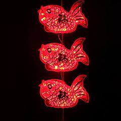 preiswerte LED Lichtstreifen-0,5 m Leuchtgirlanden 3 LEDs Rot Dekorativ 220-240 V 1 set