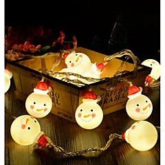 preiswerte LED Lichtstreifen-BRELONG® 1.2 Leuchtgirlanden 10 LEDs 2835 SMD Warmes Weiß / RGB / Weiß Kreativ / Party / Dekorativ AA-Batterien angetrieben 1 set