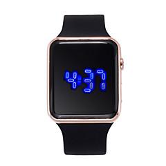 preiswerte Damenuhren-Damen damas Digitaluhr digital 30 m Kreativ LCD Silikon Band digital Modisch Schwarz - Purpur Fuchsia Rotgold