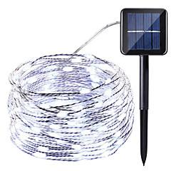 preiswerte LED Lichtstreifen-HKV 10m Leuchtgirlanden 100 LEDs Warmes Weiß / Kühles Weiß / Rot Wasserfest / Solar / Party Solarbetrieben 1 set
