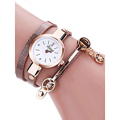 お買い得  レディース腕時計-女性用 リストウォッチ クォーツ 30 m クリエイティブ PU バンド ハンズ ヴィンテージ ファッション ブラック / 白 / レッド - レッド ブルー ピンク