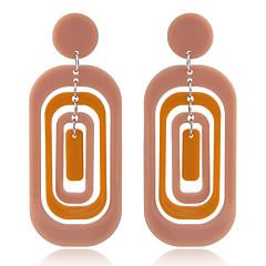 preiswerte Ohrringe-Damen Geometrisch Tropfen-Ohrringe - Harz Einfach, Europäisch, Modisch Schwarz / Orange / Rosa Für Party Normal