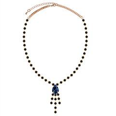 お買い得  ネックレス-女性用 テニスチェーン ペンダントネックレス  -  ドロップ ぜいたく, 欧風, エレガント ブラック, ブルー, ダークグリーン 42 cm ネックレス ジュエリー 1個 用途 パーティー, 誕生日