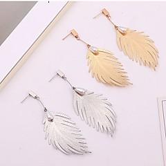 preiswerte Ohrringe-Damen 3D Tropfen-Ohrringe - Künstliche Perle Blattform Stilvoll, Einfach Gold / Silber Für Alltag