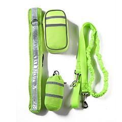 お買い得  犬用首輪/リード/ハーネス-犬用 セット / リード / 訓練 携帯用 / トレーナー / サイズが調整できます。 ソリッド ポリエステル グレー / レッド / グリーン