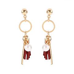 preiswerte Ohrringe-Damen Quaste Tropfen-Ohrringe - Künstliche Perle Koreanisch, Süß, Modisch Schwarz / Wein Für Normal Alltag