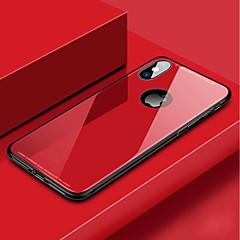 Недорогие Кейсы для iPhone 6-Кейс для Назначение Apple iPhone XR / iPhone XS Max Защита от удара Кейс на заднюю панель Однотонный Твердый Закаленное стекло для iPhone XS / iPhone XR / iPhone XS Max