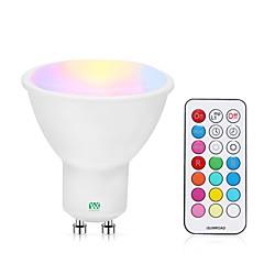 preiswerte LED-Birnen-YWXLIGHT® 1pc 5 W 400-500 lm GU10 LED Spot Lampen 24 LED-Perlen SMD Abblendbar / Ferngesteuert RGBW / RGBWW 85-265 V