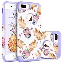 Недорогие Кейсы для iPhone 7 Plus-BENTOBEN Кейс для Назначение Apple iPhone 8 Plus / iPhone 7 Plus Защита от удара / С узором Кейс на заднюю панель Фрукты Твердый ПК / силикагель для iPhone 8 Pluss / iPhone 7 Plus