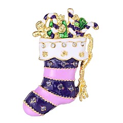 お買い得  ブローチ-女性用 3D ブローチ  -  靴 シンプル ブローチ パープル 用途 クリスマス
