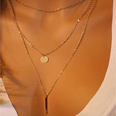 preiswerte Halsketten-Damen Doppellagig Layered Ketten - Modisch Niedlich, Cool Gold 40 cm Modische Halsketten Schmuck 1 set Für Geburtstag