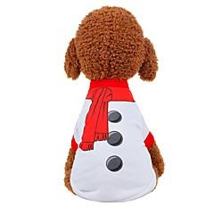 お買い得  犬用ウェア&アクセサリー-犬用 / 猫用 ベスト 犬用ウェア ソリッド ホワイト / レッド ファブリック コスチューム ペット用 男女兼用 パーティー/イブニング / スウィート