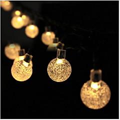 preiswerte LED Lichtstreifen-5m Leuchtgirlanden 20 LEDs Warmes Weiß Dekorativ Solarbetrieben 1 set