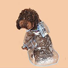 お買い得  犬用ウェア&アクセサリー-犬用 / 猫用 レインコート 犬用ウェア カラーブロック / シンプル ホワイト / フクシャ / ブルー PVC コスチューム ペット用 男女兼用 普通 / 防水