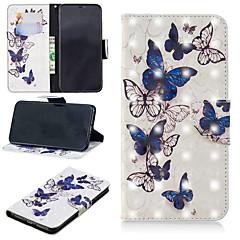 Недорогие Кейсы для iPhone-Кейс для Назначение Apple iPhone XS / iPhone XS Max Кошелек / Бумажник для карт / со стендом Чехол Бабочка Твердый Кожа PU для iPhone XS / iPhone XR / iPhone XS Max