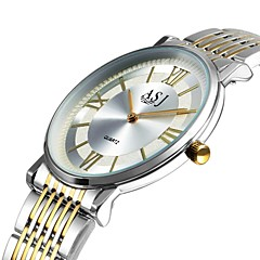 お買い得  メンズ腕時計-ASJ 男性用 ドレスウォッチ 日本産 日本産クォーツ 白 / ゴールド カジュアルウォッチ 大きめ文字盤 ハンズ ヴィンテージ エレガント - シルバー ゴールド / ホワイト 1年間 電池寿命 / SSUO AG4