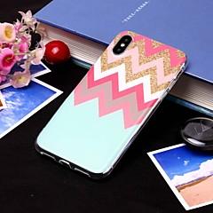 Недорогие Кейсы для iPhone X-Кейс для Назначение Apple iPhone XS / iPhone XS Max IMD / Полупрозрачный Кейс на заднюю панель Полосы / волосы Мягкий ТПУ для iPhone XS / iPhone XR / iPhone XS Max