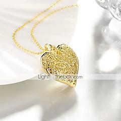 preiswerte Halsketten-Damen Anhängerketten - vergoldet Herz Süß, Modisch Heart, lieblich Gold 50 cm Modische Halsketten Schmuck 1pc Für Alltag, Arbeit