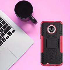Недорогие Чехлы и кейсы для Motorola-Кейс для Назначение Motorola MOTO G6 со стендом Кейс на заднюю панель броня Твердый ПК для MOTO G6