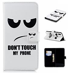 Недорогие Кейсы для iPhone-Кейс для Назначение Apple iPhone XS / iPhone XS Max Кошелек / Бумажник для карт / со стендом Чехол Слова / выражения Твердый Кожа PU для iPhone XS / iPhone XR / iPhone XS Max