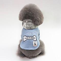 お買い得  犬用ウェア&アクセサリー-犬用 コート 犬用ウェア キャラクター / ボーン / スローガン レッド / ブルー プラッシュ コスチューム ペット用 男女兼用 カジュアル/普段着 / ウォームアップ