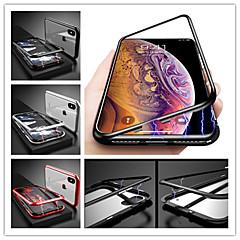 Недорогие Кейсы для iPhone 6-Кейс для Назначение Apple iPhone X Защита от удара / Магнитный Кейс на заднюю панель Однотонный Твердый Закаленное стекло для iPhone X / iPhone 8 Pluss / iPhone 8