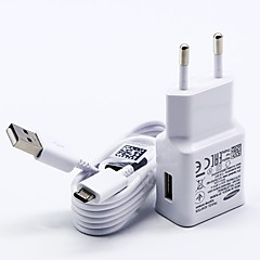 abordables Cargadores para Teléfono-Cargador de Hogar Cargador usb Enchufe USA / Enchufe UE con el cable / Kit de Carga 1 Puerto USB 2 A 100~240 V para S7 Active / S7 edge / S7