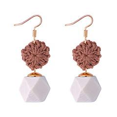 preiswerte Ohrringe-Damen Geflochten Tropfen-Ohrringe - Stilvoll, Einfach Kaffee / Rot / Grün Für Normal Verabredung