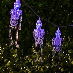 preiswerte LED Lichtstreifen-HKV 1.5 Leuchtgirlanden 10 LEDs Kühles Weiß / Blau / Grün Kreativ / Party / Komisch AA-Batterien angetrieben 1pc