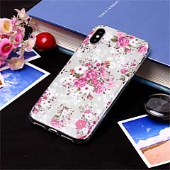 Недорогие Кейсы для iPhone 5-Кейс для Назначение Apple iPhone XS / iPhone XS Max С узором Кейс на заднюю панель Цветы Мягкий ТПУ для iPhone XS / iPhone XR / iPhone XS Max