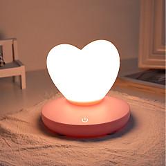 preiswerte Ausgefallene LED-Beleuchtung-1pc LOVE LED-Nachtlicht / Kinderzimmer Nachtlicht Dreifarbig USB Für die Kinder / Wiederaufladbar / Abblendbar 5 V